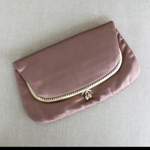 Vintage Morris Moskowitz Brown Satin Clutch